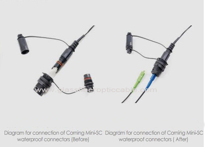 Supertap Connector For Fiber Optic Patch Cables Outdoor Communication