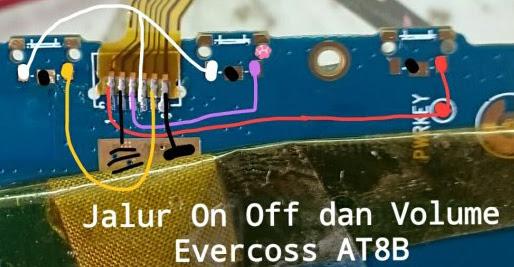 Evercoss AT8B winner Tab V-8GB Volume Up Down Keys Not Working Problem Solution Jumpers