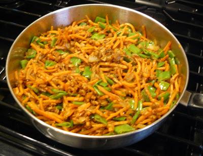 Shrim Curry 2 - carrots & snow peas