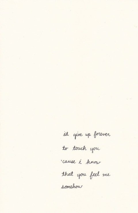 I D Give Up Forever To Touch You Lyrics