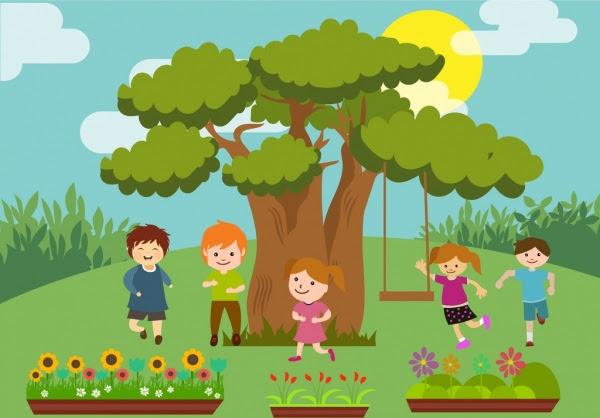 playful children theme colorful cartoon design style 210048