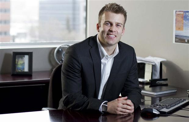 Recruitment specialist for Hatch, Jamie Rogers is photographed in his downtown office in SW Calgary on November 18, 2011.