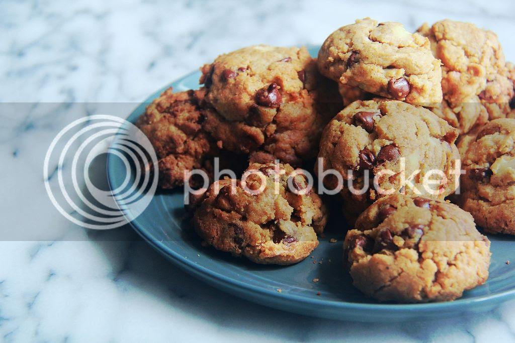 dessert / snack - cream cheese, walnut and chocolate chip cookies