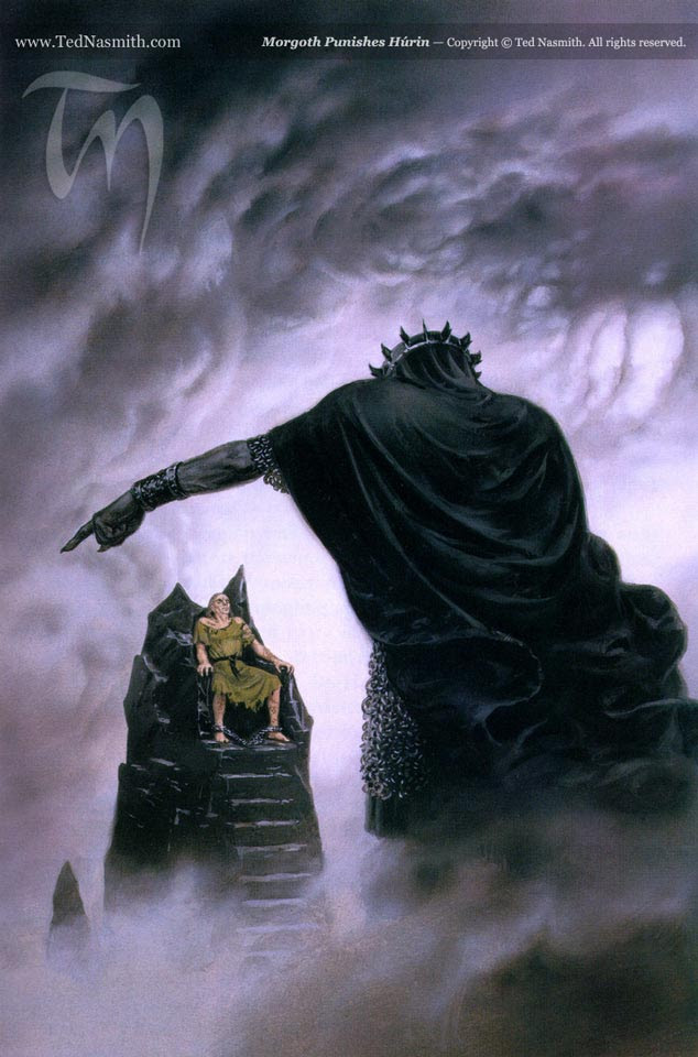 Morgoth punishes Hurin
