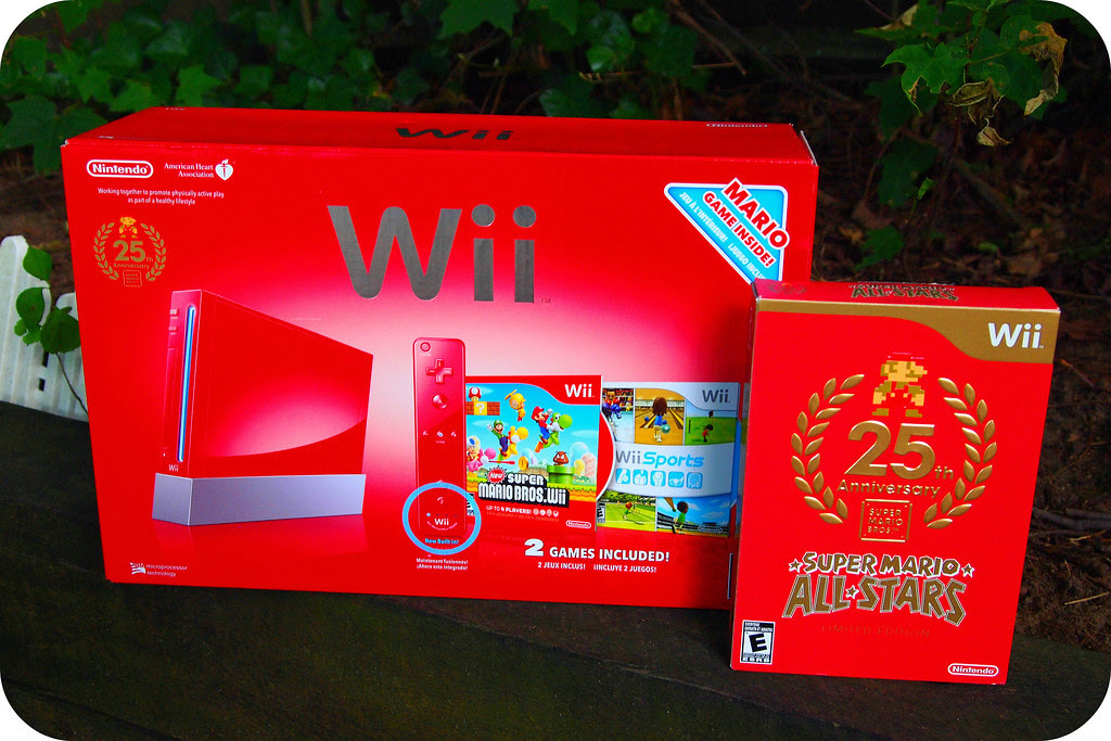Super Mario Bros 25th Anniversary Limited Edition Wii S