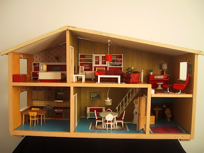 Vintage Lundby dolls' house, circa 1973-74.