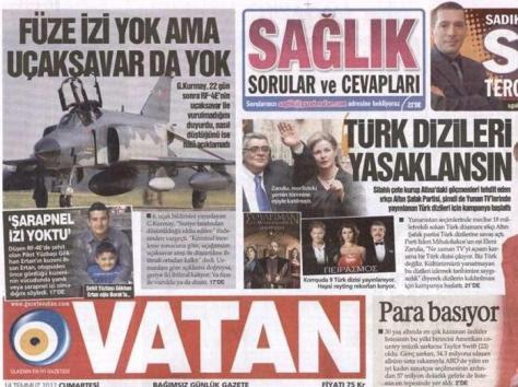 Eπίθεση στη Χρυσή Αυγή απο την τούρκικη εφημερίδα Vatan