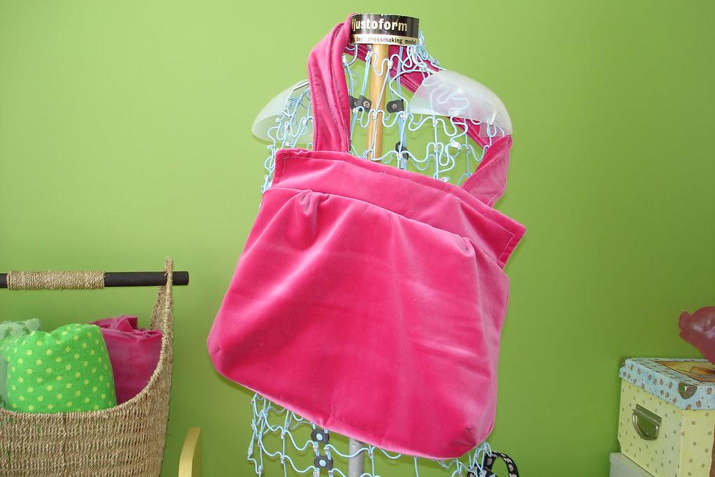 Pink Velvet Purse