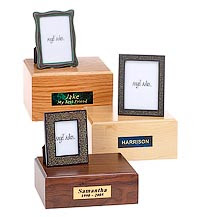 Wood Pet Urns With Photo Frames