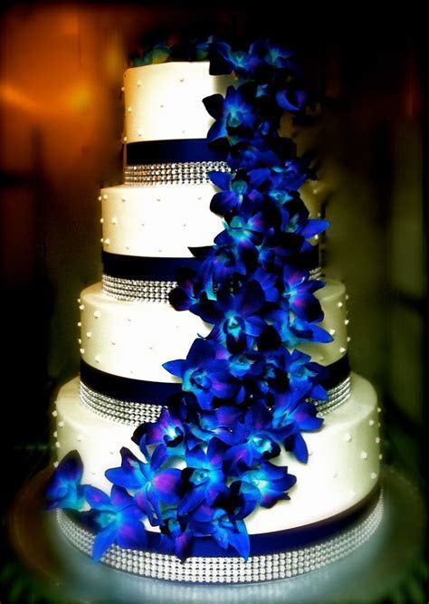 Blue Orchid Bling   Wedding Cakes   Pinterest   What i
