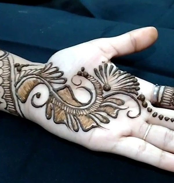 Arabic Mehndi Design With Heart Shape