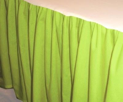 Kelly Green Dustruffle Bedskirt Full Double Size