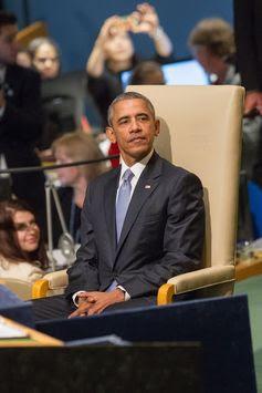 """การประชุมสมัชชาใหญ่แห่งสหประชาชาติ(ยูเอ็นจีเอ) ครั้งที่ 70 H.E. Mr. Barack Obama, President . """"I lead the strongest military the world has ever known and I will not hesitate to protect my country or its allies,"""" he said.  ."""