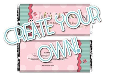 2.Create your own! Chocolate Bar ( Wrapper & Chocolate Bar