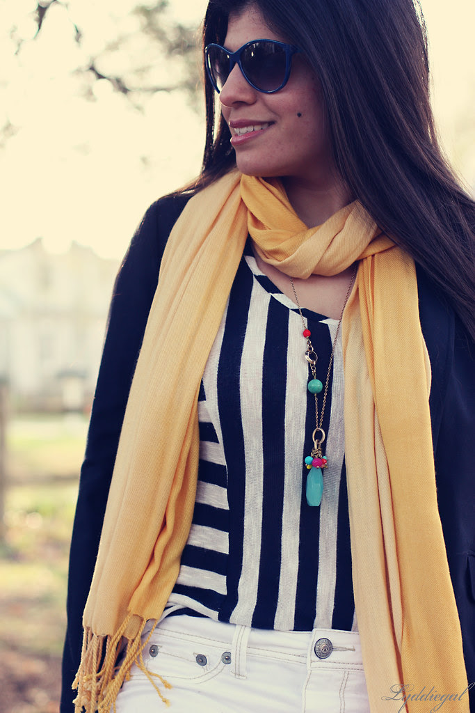 Yellow and turquoise