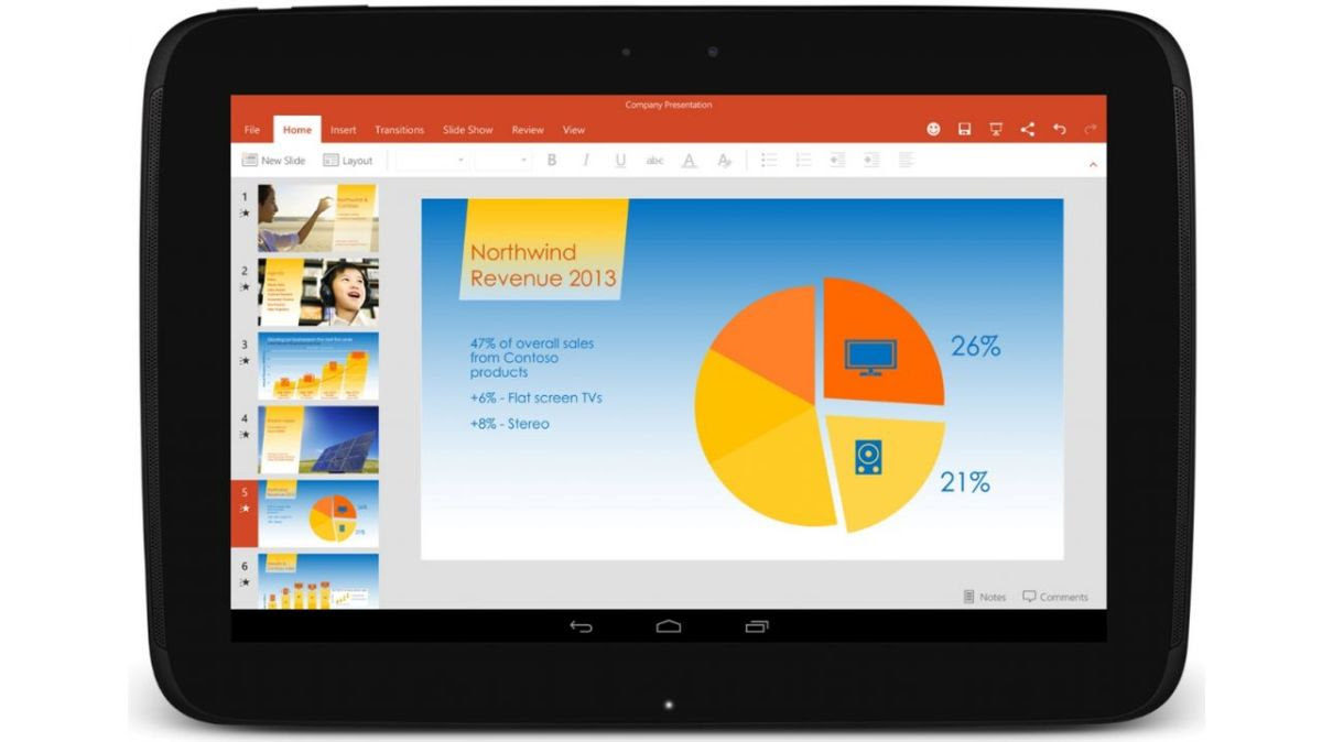 You can download Microsoft s Office for Android tablet