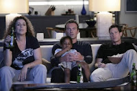 The gang watching Hearts and Scalpels