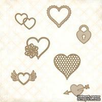 Чипборд Blue Fern Studios - Eclectic Hearts - ScrapUA.com