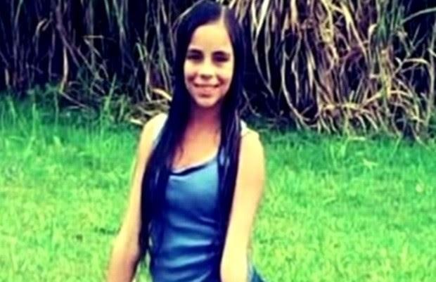 Letícia Emanuele Ferreira Lemos, de 14 anos, foi achada morta em Luziânia, Goiás (Foto: Reprodução/TV Anhanguera)