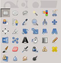 L'icona della selezione rettangolare nella barra degli strumenti
