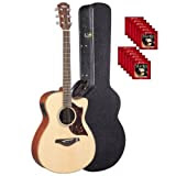 Yamaha AC1MHC Small Body Cutaway Acoustic Electric Mahagony with Case