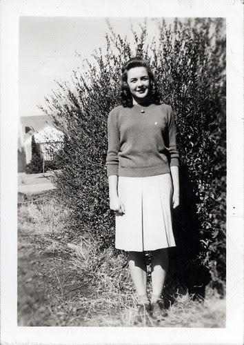 Gloria Album - Gladys in sweater and skirt