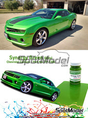 Zero Paints: Pintura - Verde Chevrolet Camaro Synergy Green - 60ml - para Aerógrafo