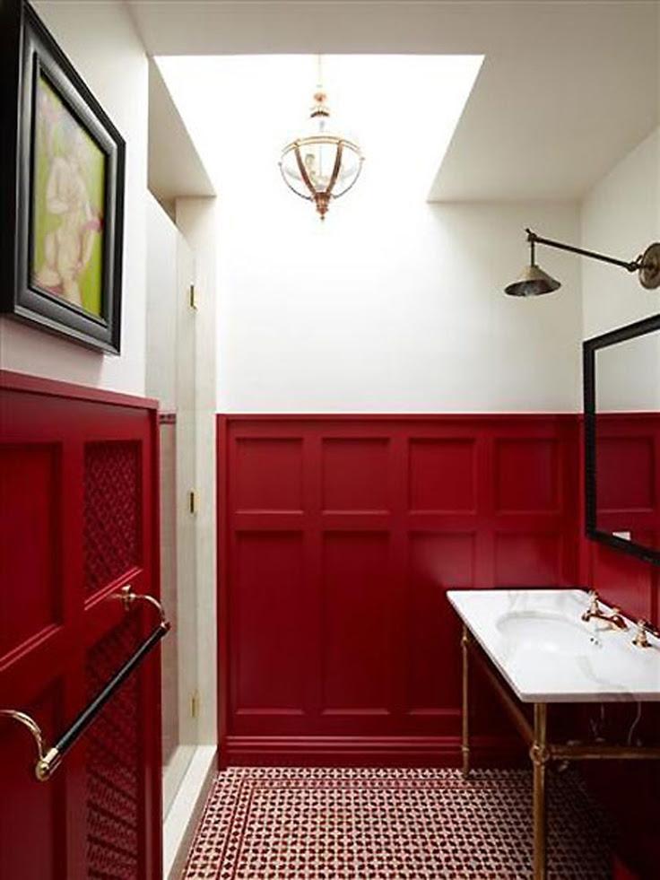 21 Red Bathroom Design Ideas To Try | Interior God