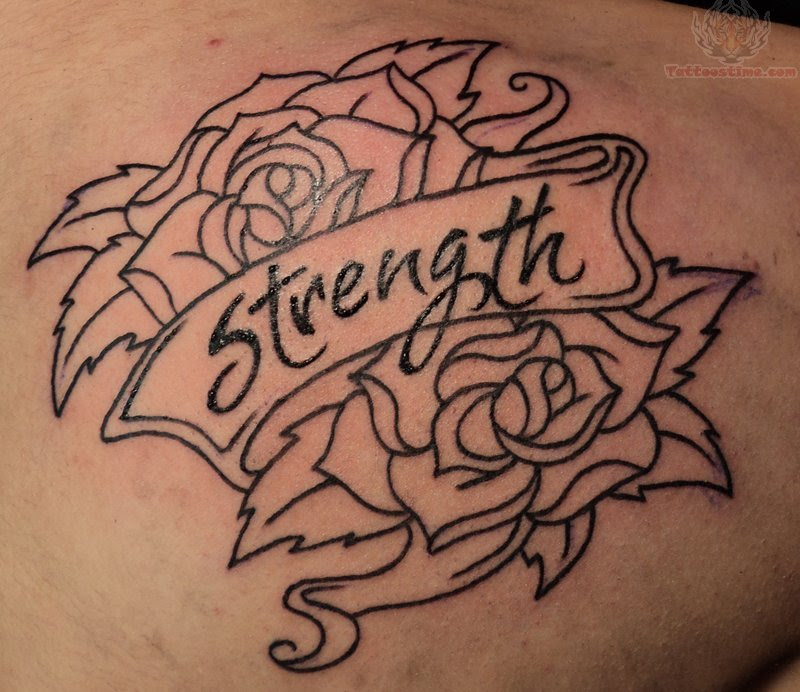 Rose Tattoos With Banner Tattoos Designs Ideas