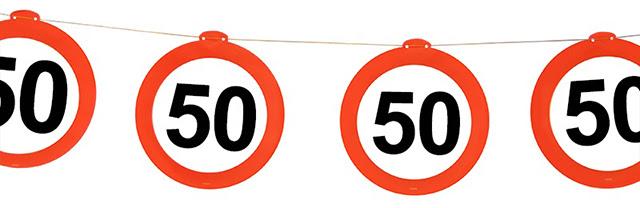 Baner Girlanda Na 50 Urodziny Dekoracje 1szt