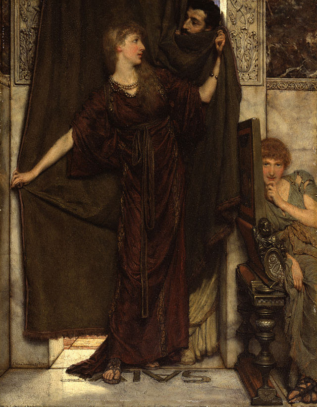 Sir Lawrence Alma-Tadema, RA, OM - My Sister Is Not In - Walters 3786.jpg