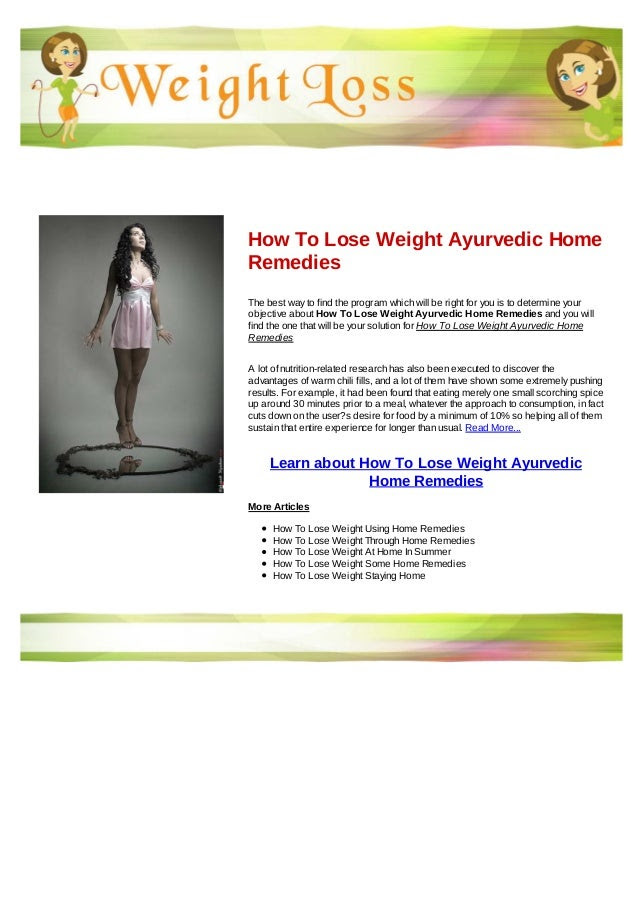 20 Home Remedies For Weight Loss - Southcorner Barber