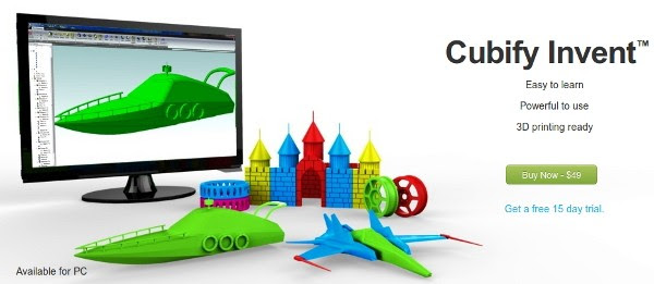 Cubify Invent affordable design tool created with 3D printing in mind