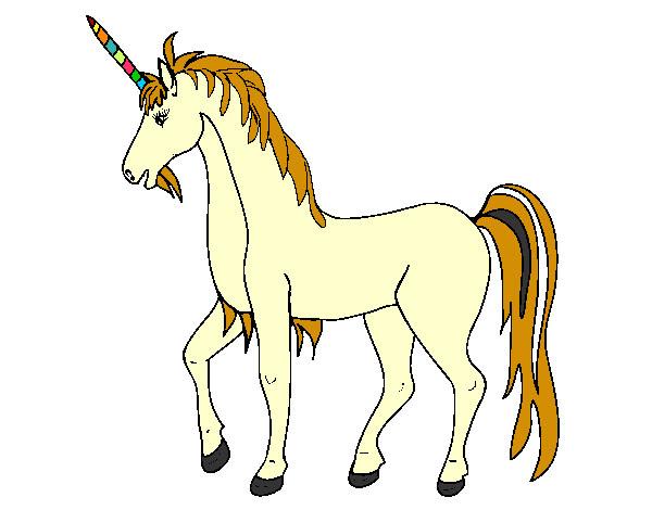 Dibujo De Unicorneo Fantacia Pintado Por Silviafer En Dibujos Net El