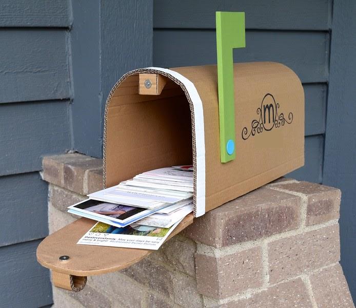 Ikat Bag Cardboard Mailbox