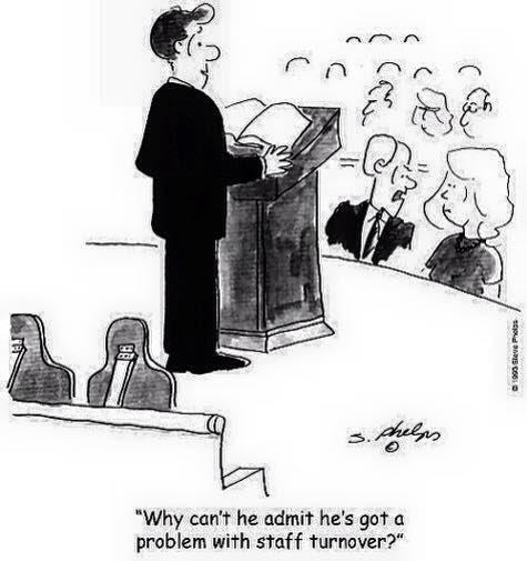 [Cartoon of a distruptive pastor]