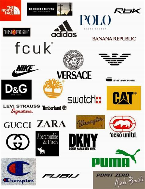 characteristics   clothing brand logos