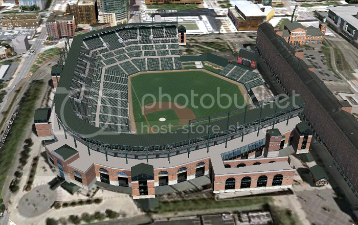 Oriole Park at Camden Yards (Baltimore, MD); 3D model by Google 3D Warehouse