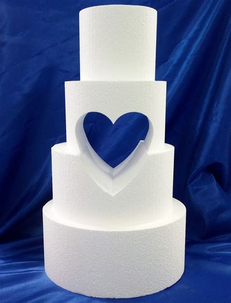 Heart Cut Outs   Hole Cut Tiered Cake Dummies   Wedding Cakes