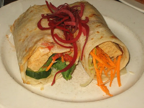 tofu wrap at vegie bar