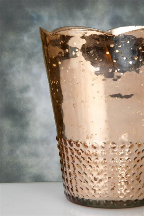 Rose Gold Mercury Glass Array Votive Candle Holders 7.5in