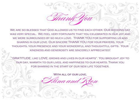 Wedding Thank You Notes Wording   Wedding , Wedding Ideas