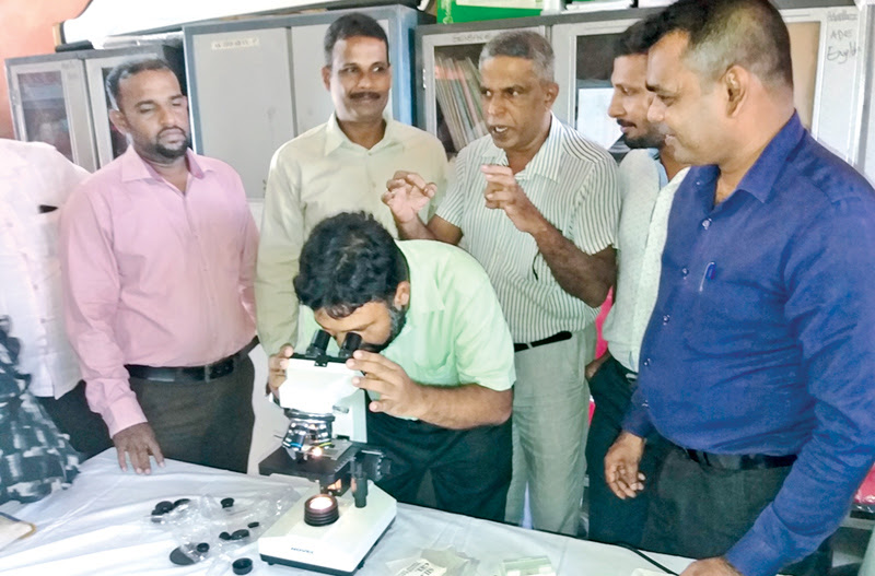 Microscopes for Akkaraipattu schools