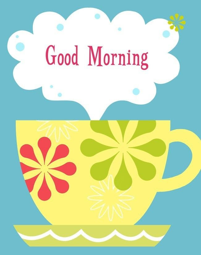 Cheery Good Morning Coffee Art Print. #morning #coffee