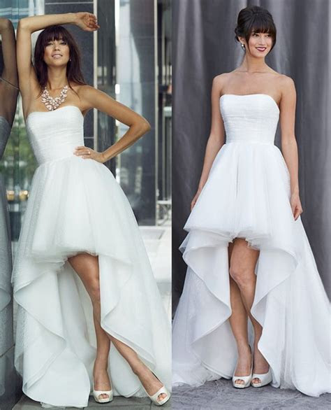 WD230 romantic wedding dresses, short in front long back