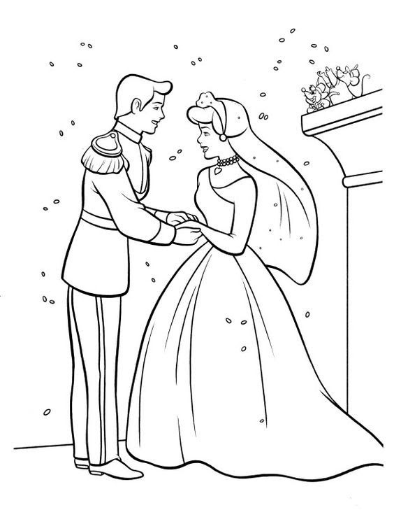 550 Top Wedding Cartoon Coloring Pages Pictures