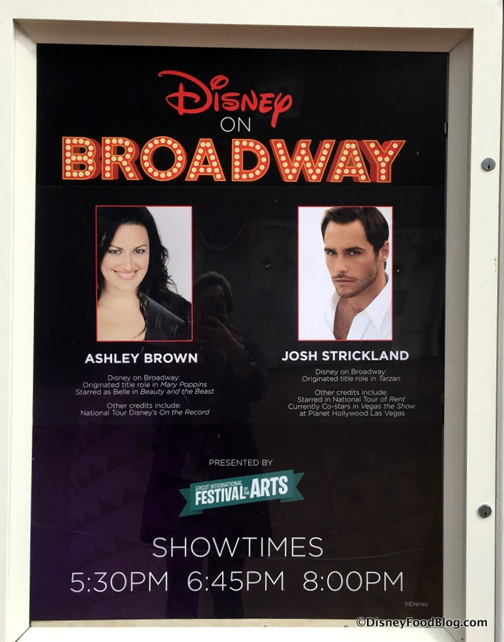 News Disney On Broadway Concert Series Lineup For The Epcot Festival Of The Arts The Disney Food Blog
