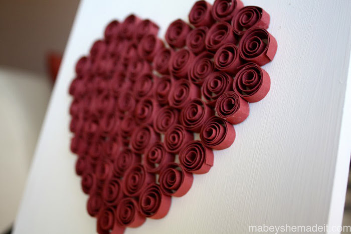 Quilled Heart Décor Mabey She Made It