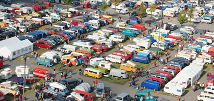 60 years of Volkswagen Transporter van - first International VW Bus Meeting, Hanover Exhibition Centre