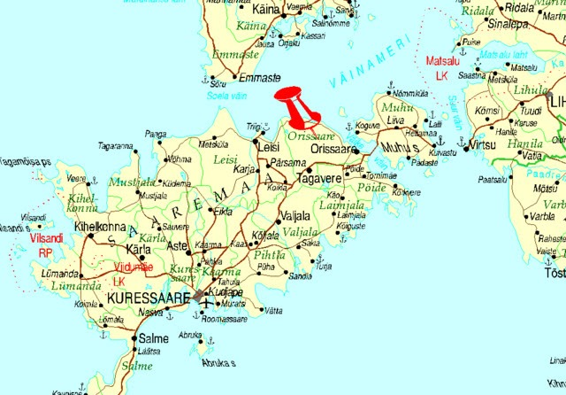 Estonia Uppoamispaikka Kartta